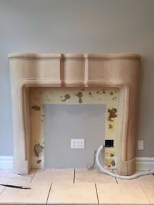 Stone fireplace mantle - brand new
