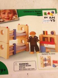 Children's room furniture for dolls house - brand new