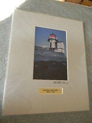 (Fine Art Photo SQUIRREL POINT LIGHT Lighthouse 1898 Maine NEW 8x10 Artist Signed)