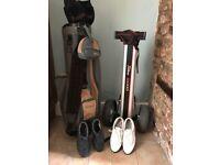 Wilson Golf Bag, Titleist trolley, foot joy shoes