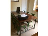 Industrial/Shabby Chic Dining Table and 6 Chairs