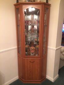 3 corner units, 1 TV cabinet, 1 CD cabinet. Teak effect / very good condition