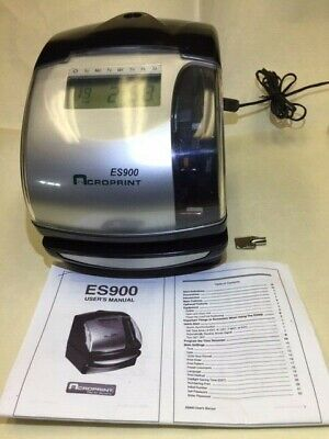 Acroprint Es900 Electronic Time Recorder Numbering Stamp