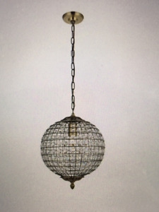 "Gorgeous Antique-Style 12""D Pendant Light"