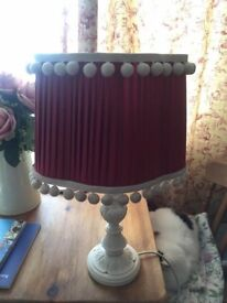 Ruby red vintage lampshade