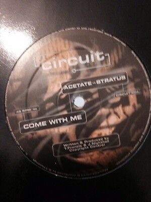 """Acetate & Stratus- Touch / Come With Me 12"""" Drum and Bass Circuit Records Vinyl"""
