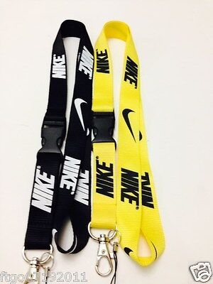 Nike Lanyard Black & Yel Key, Badge, cell phone holder. Save when you buy pair!