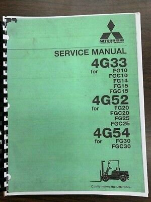 Mitsubishi Forklift Engine 4g33 4g52 4g54 Service And Repair Manual