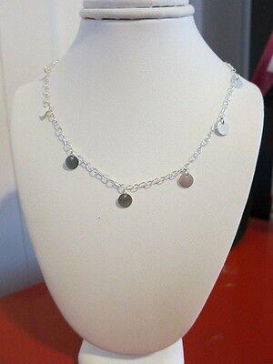 Mini Disc Dangle Necklace  Sterling Silver, Minimalist, Modern, Everyday Jewelry - Minimalist Everyday Necklace