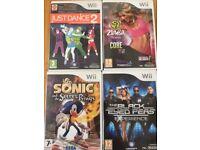 4 x Wii games