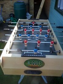 Table football game made by JAQUES of London. Good condition + 4 balls.