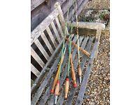 3 vintage mackerel fishing rods for sale