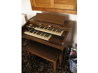 Farfisa Electric Organ includes Foot Stool in Excellent Condition