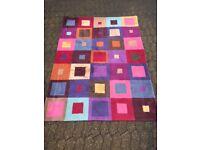 Colourful rug - 100% wool