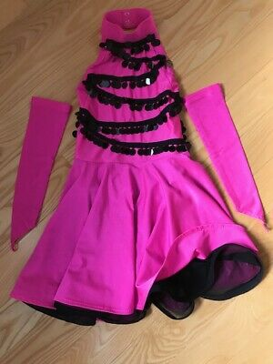 Hot Girls In Dresses (Ballroom Dance Girls Latin Competition Dress In Hot Pink. Size 8-9 Years Old. )