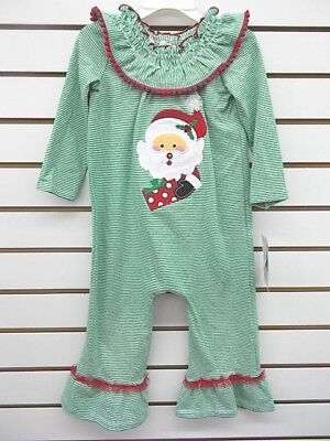 Toddler Girls Bonnie Jean 1pc Green & White Santa Outfit Size 2T - 4T ()