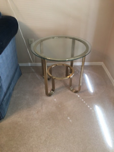 House sold must sell Glass and brass end tables