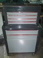 Tool Chest 6 Drawers, Top and Base Unit with Rollers
