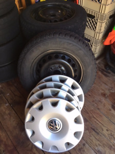 Four Volkswagen Studded Snow Tires