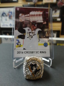 2016 SIDNEY CROSBY STANLEY CUP RING REPLICA-with stand display