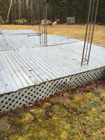 8x10 sections of deck