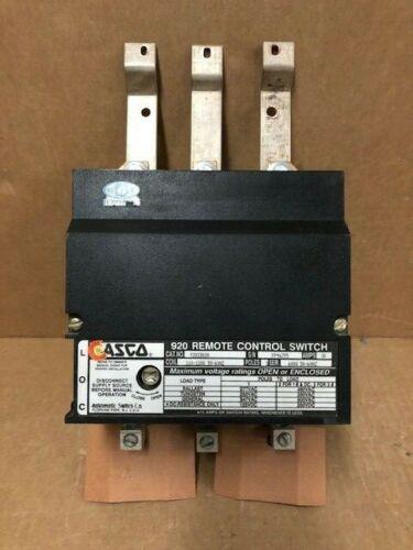 ASCO 920 33030 3POLE 30 AMP OPEN TYPE LIGHTING CONTACTOR