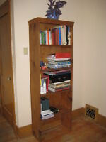 bookshelf made from natural wood for sale