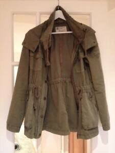 Khaki Olive Cotton Wind Resistant Military Parka - Garage Brand