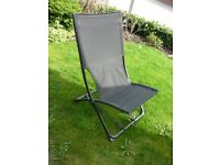 Pair of Black Material Garden Chairs like new