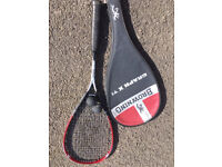 BROWNING GRAPH X TI SQUASH RACKET WITH CARRY CASE.