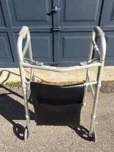 Folding Walker with Double Pouch