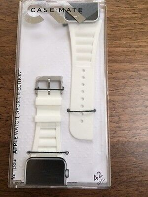 Case Mate Vented Strap for 42mm Apple Watch in White. New in Box. Model CM032806