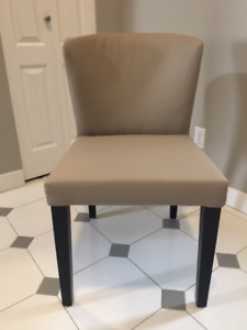 """Leather"" dining chairs, set of 4"