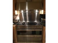 *SOLD* Britannia dual fuel range cooker with chimney hood
