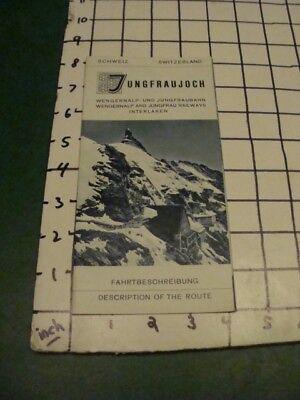 vintage brochure - JUNGRFAUJOCH  - BERMISE ALPS, SWITZERLAND 12pgs