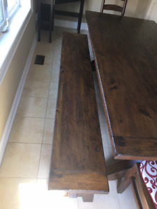 Kitchen/Dining Table, Chairs and Bench