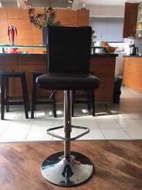 Three leather Bar Stools For Sale