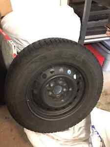 Winter tire package - Tires mounted on rims from a 2015 Outlande