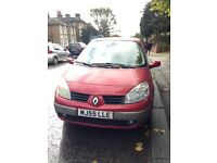 CHEAP Renault Grand Scenic 2005 - 72800 miles - MOT until Aug 2017 - CAT D