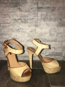 Beige/Nude High Heels with Ankle Strap (Forever 21)