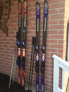 Rossignol skiis and binding along with boots and poles