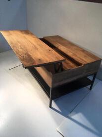 Flip top Coffee table storage unit