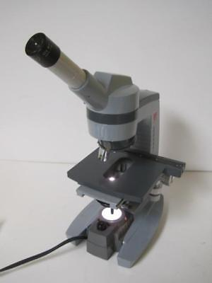 Spencer American Optical Monocular Lighted Lab Microscope Wobjectives 10x 45x