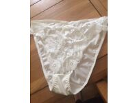 silky/lacey knickers plus size