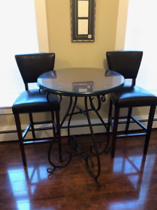 Tall Table and Two Chairs for sale