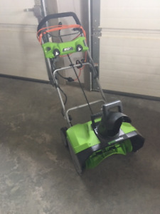 Snow thrower - Greenworks13A Electric Snowthrower, 20-in