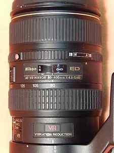 Nikon Nikkor AF 80-400mm f/4.5-5.6 D ED VR Lens +UV & PL filters Gatineau Ottawa / Gatineau Area image 3