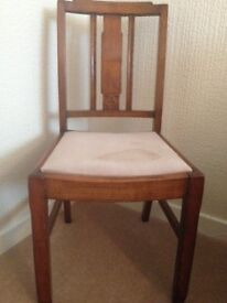 2 solid oak chairs