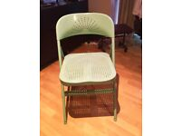 Pair of Folding chairs, Ikea, Frode, turquoise colour (x2 chairs )