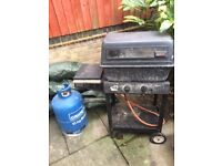 Gas BBQ with bottle